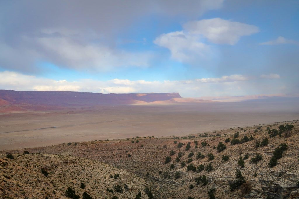 View of the Vermillion Cliffs from Pasture Canyon Lookout along the Vermillion Cliffs Scenic Highway