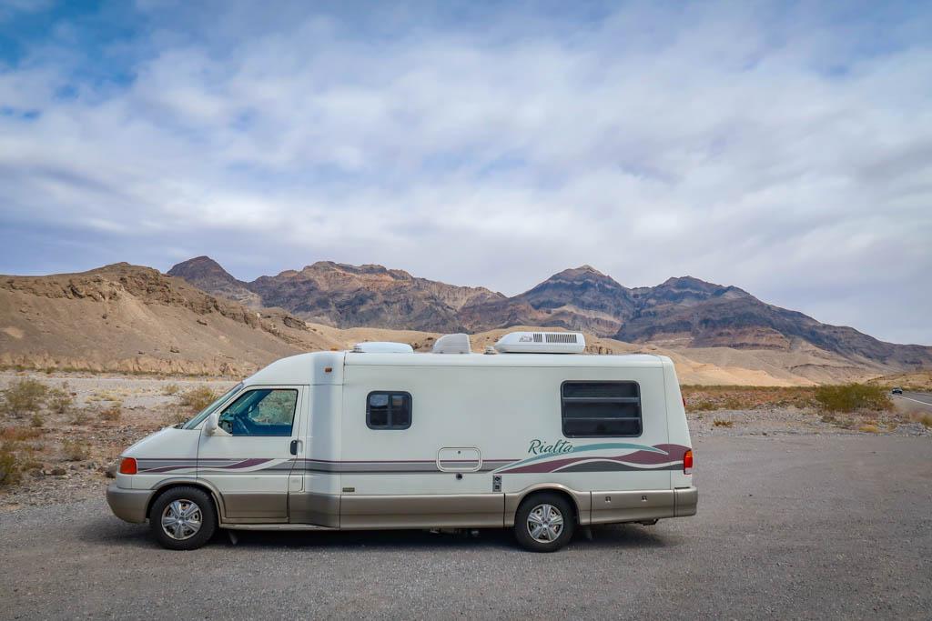 Winnebago Rialta at Death Valley National Park, California