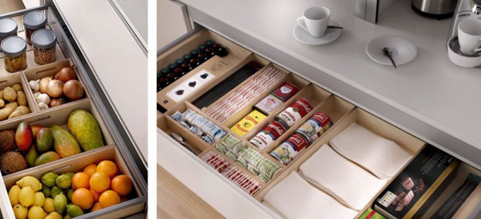 Los interiores y accesorios para nuestras cocinas  Aram