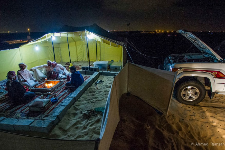 Emaratis enjoying the winter in Al Warqa desert with different activities and gathering of friends and families.