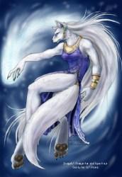 Anime Female White Arctic Wolf Snow Wolf 2