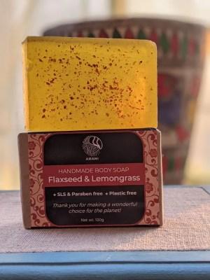 Flaxseed & Lemongrass Soap