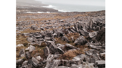 Remains of the chiveaux de frise that protected Dun Aengus. Photo: Arkell Weygandt