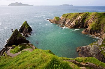 A view of Dunquin Harbor and the Blasket Islands beyond (Photograph by Marshall Ikonography, Alamy)