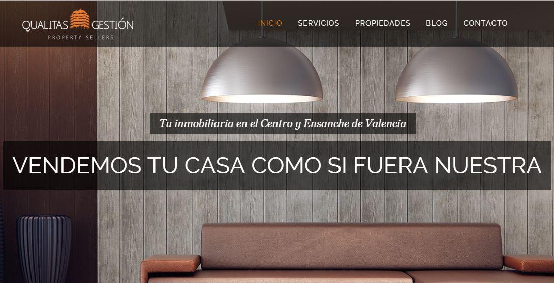 web en wordpress para inmobiliaria en Valencia - Qualitas Gestion