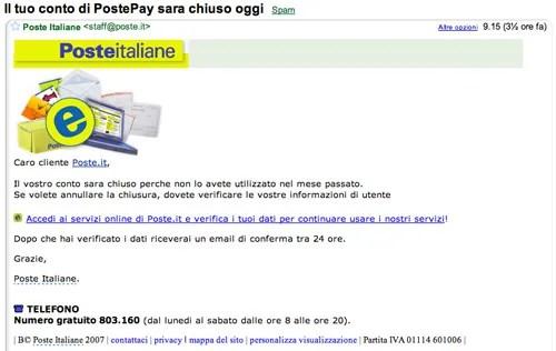 Attenti Alle E Mail Truffa Di Poste Italiane Il Malpaese