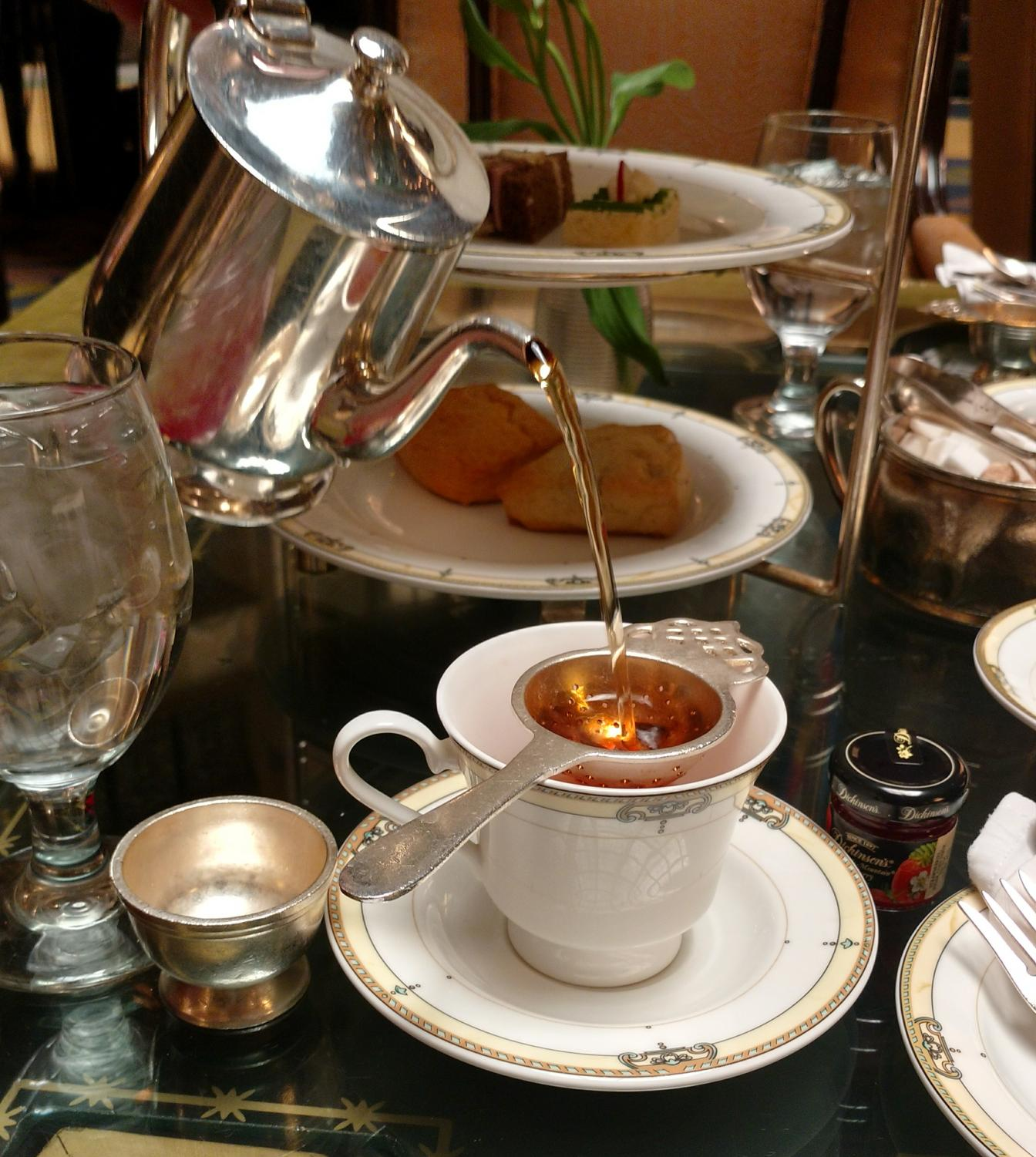 Afternoon tea at The Brown Palace Hotel and Spa on April 9, 2018, in Denver, Colo.