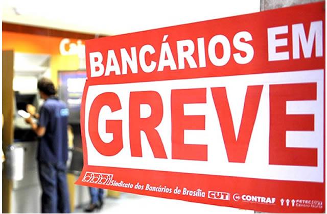 Bancários entram em greve a partir do dia 30