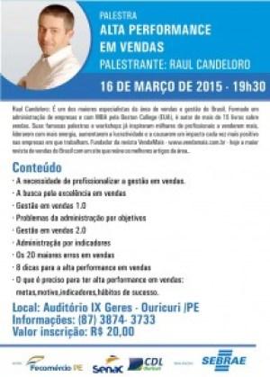 PALESTRA ALTA PERFORMANCE PANFLETO