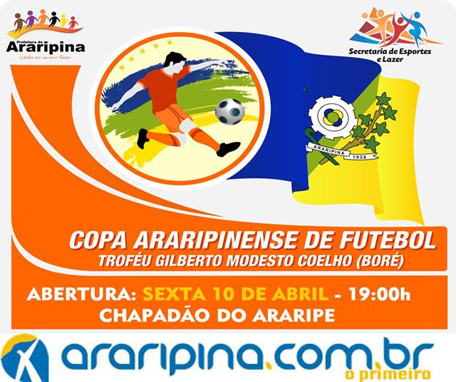 Copa Araripinense de Futebol começa hoje (10)