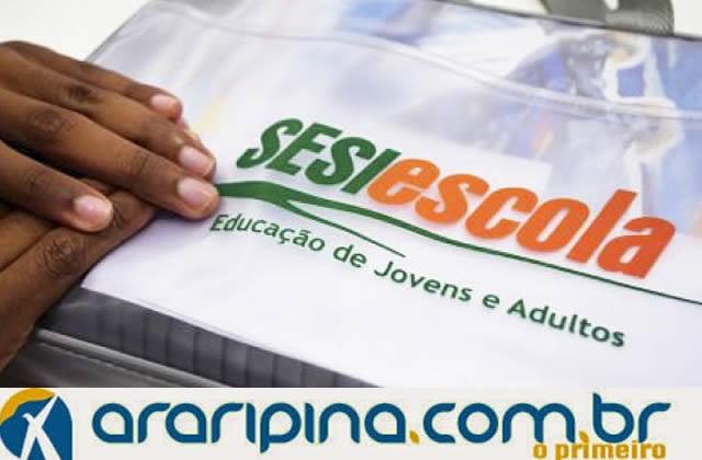 SESI/PE abre inscrições para o programa EJA em Araripina e Petrolina