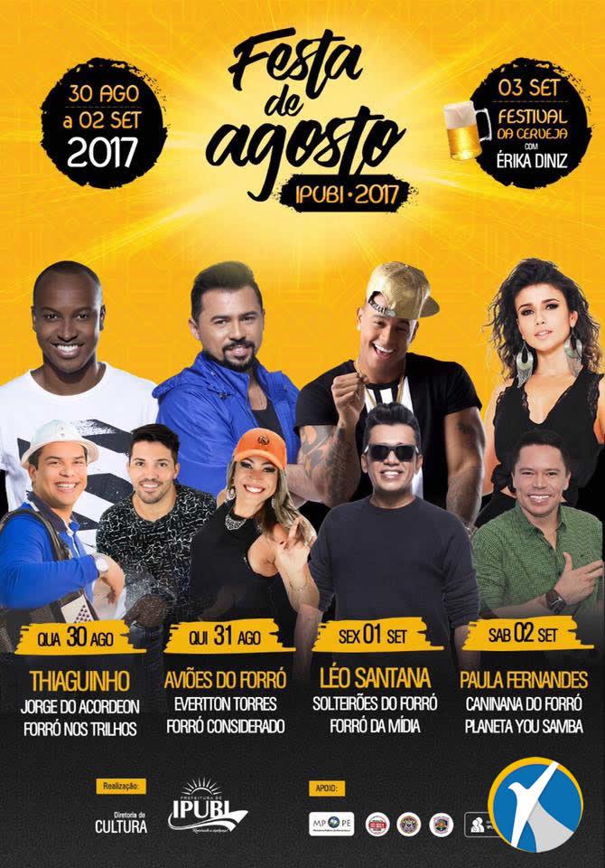 """13º """"Festa de Agosto"""" começa hoje (30) em Ipubi"""