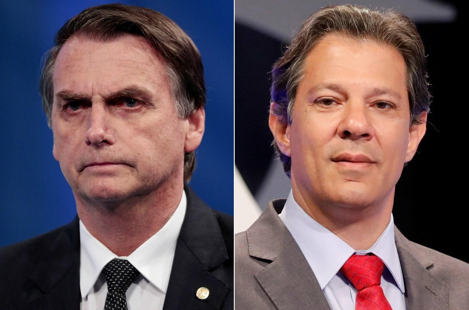 Bolsonaro tem 58% dos votos válidos; Haddad, 42%