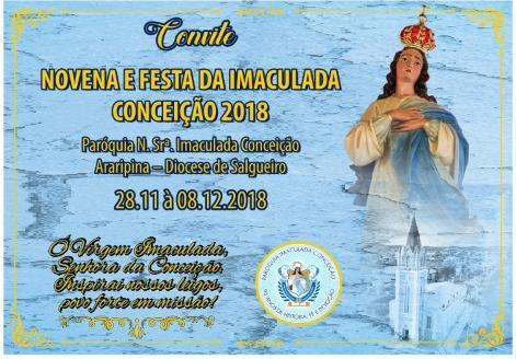 Novenário e festa da Imaculada Conceição começa hoje (28)