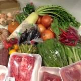 淡路島産の野菜、肉、卵。