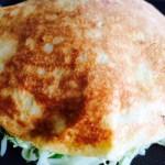 今晩のおかずにどうですか?キャベツ山盛りの広島焼きを作った!