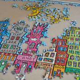 5000ピースのジグソーパズルを自宅の壁に飾ろう 開封から46日目