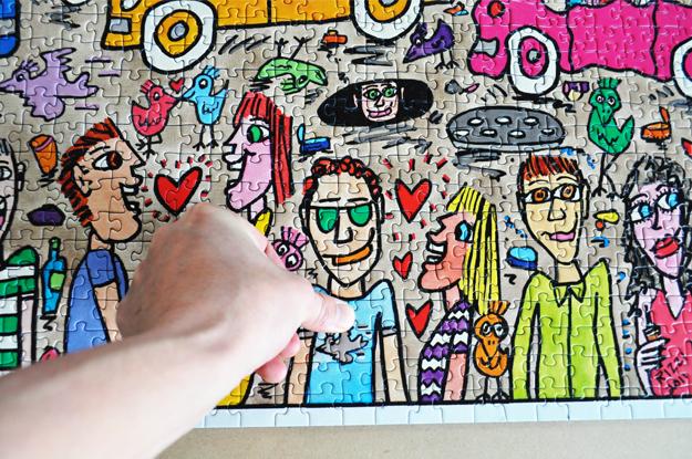 5000ピースのジグソーパズルを自宅の壁に飾ろう|完成