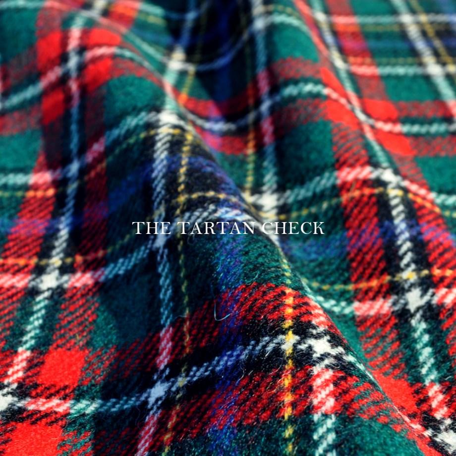 犬服 THE TARTAN CHECK イギリス製タータンチェック生地 選べる3タイプ×3カラー(ベージュ/ネイビー/グレイ)「丸襟カスタマイズ可能」