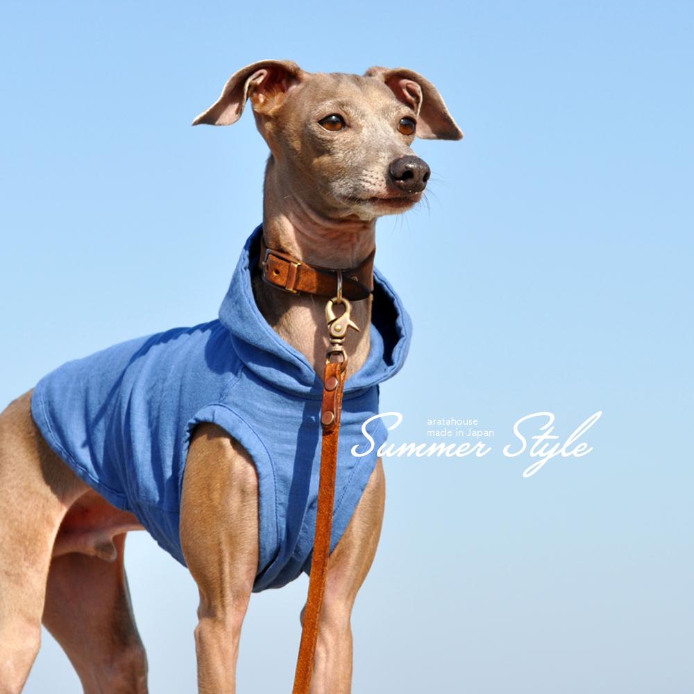 犬服|Summer Style|日本製コットンダブルガーゼ|選べる3タイプ×3カラー(Pink/Blue/Green)