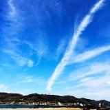 淡路島を歩く|山、空、雲、砂浜、海、漁港をのんびり散歩
