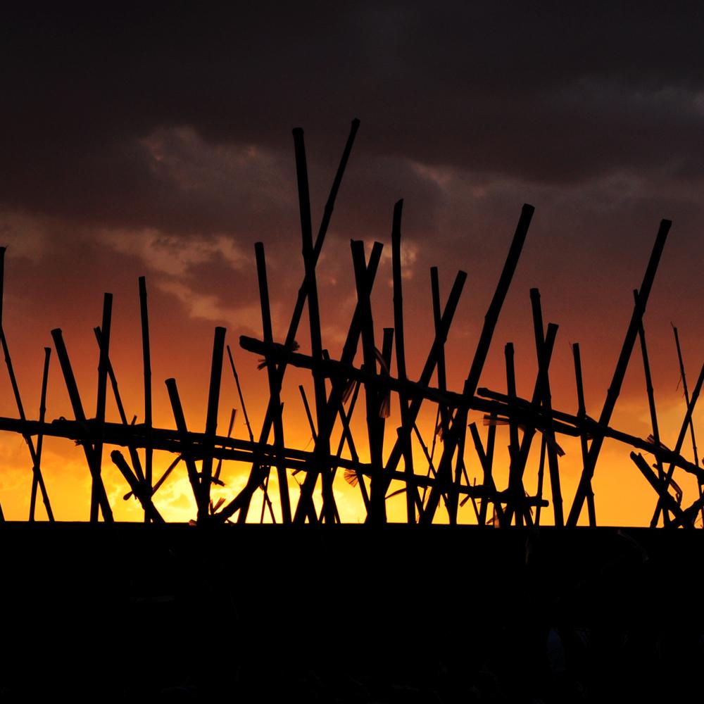 淡路島でサンセットを眺めながら。2015年3月の夕焼け