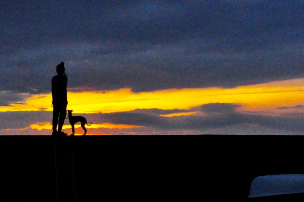 淡路島の夕陽と夕焼け。|March – April 2015 photo