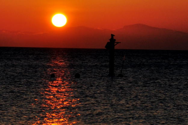 静かな花火を観て涙する。淡路島の花火大会と夕焼け空 慶野松原花火大会