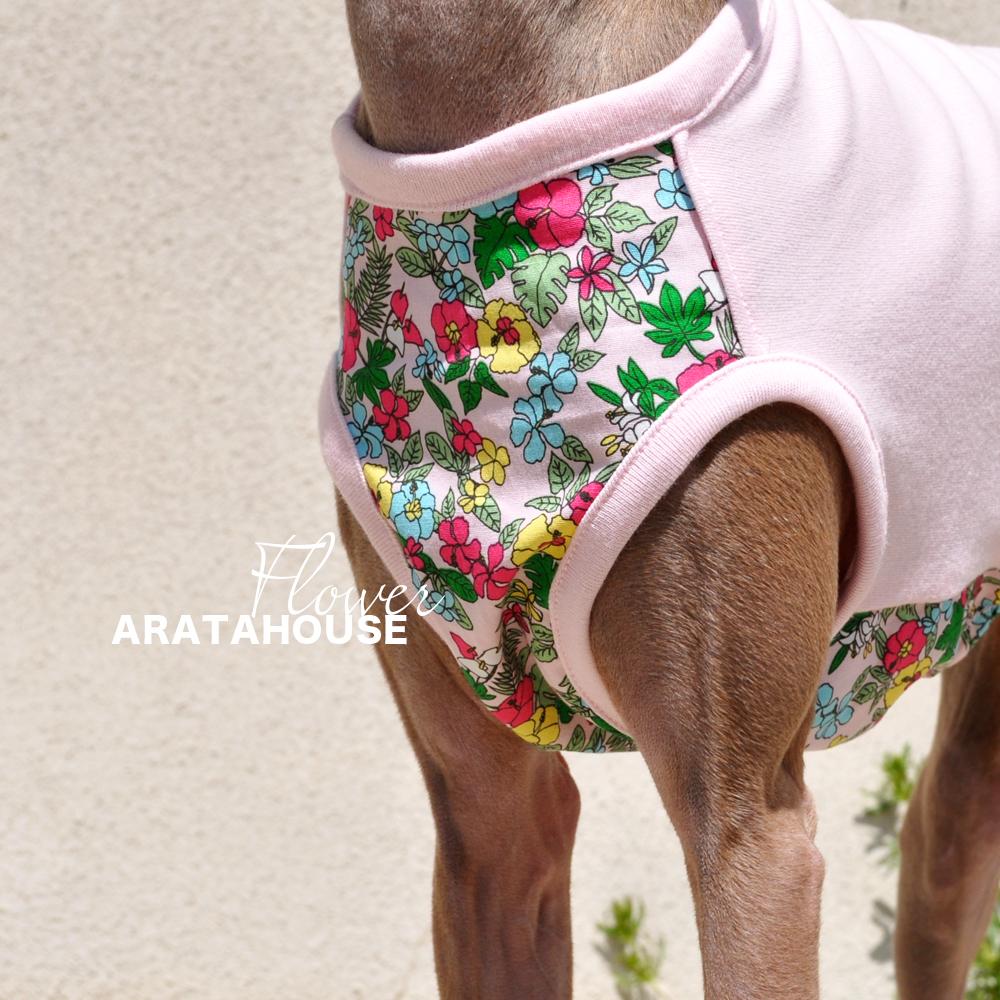 「新作犬服」お花|お花が似合う季節です