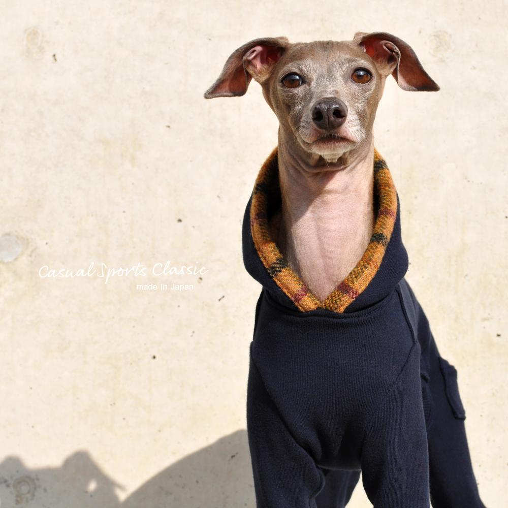 イタグレ服、ミニピン服、ウィペット服、サルーキ服、犬服・犬寝袋・雑貨の通販  Casual Sports Classic 選べる4タイプ+ポケット付き