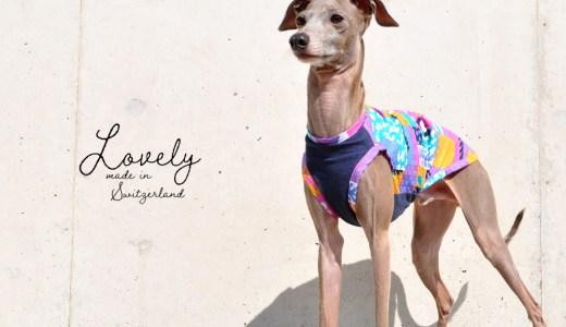 """夏にピッタリ""""スイス製しじら織り""""の生地を使ったポップでLovelyな犬服"""