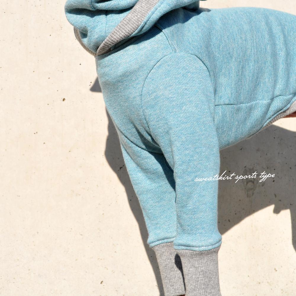 犬服 トレーナー スポーツタイプ 選べる4タイプ×8カラー(ポピーレッド/栗色/ロイヤルブルー/杢ピンク/杢ブルー/杢ベージュ/杢レッド/杢ネイビー)