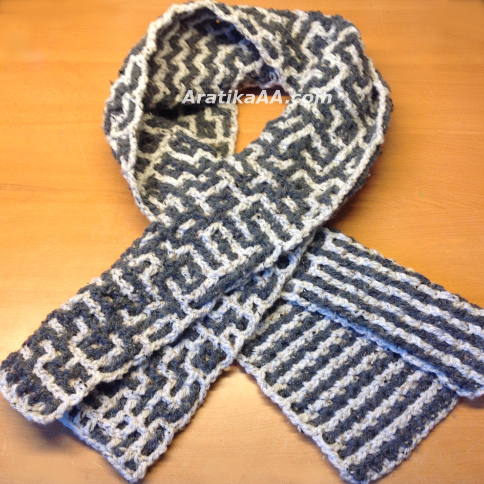 Aratika's Intermeshing Order to Chaos Man Winter Scarf