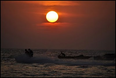 Sunset at Baga beach, Goa