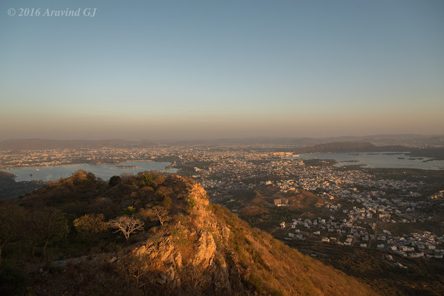 Different views of Udaipur lakes