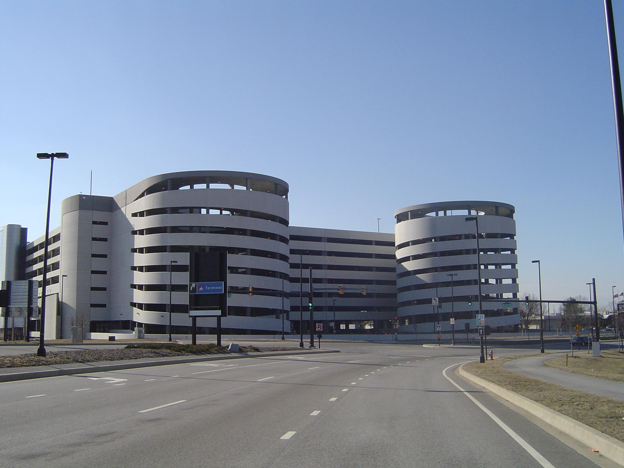 BWI Airport  LT Parking Garage  Baltimore Maryland