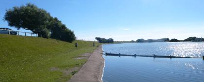View along the lake