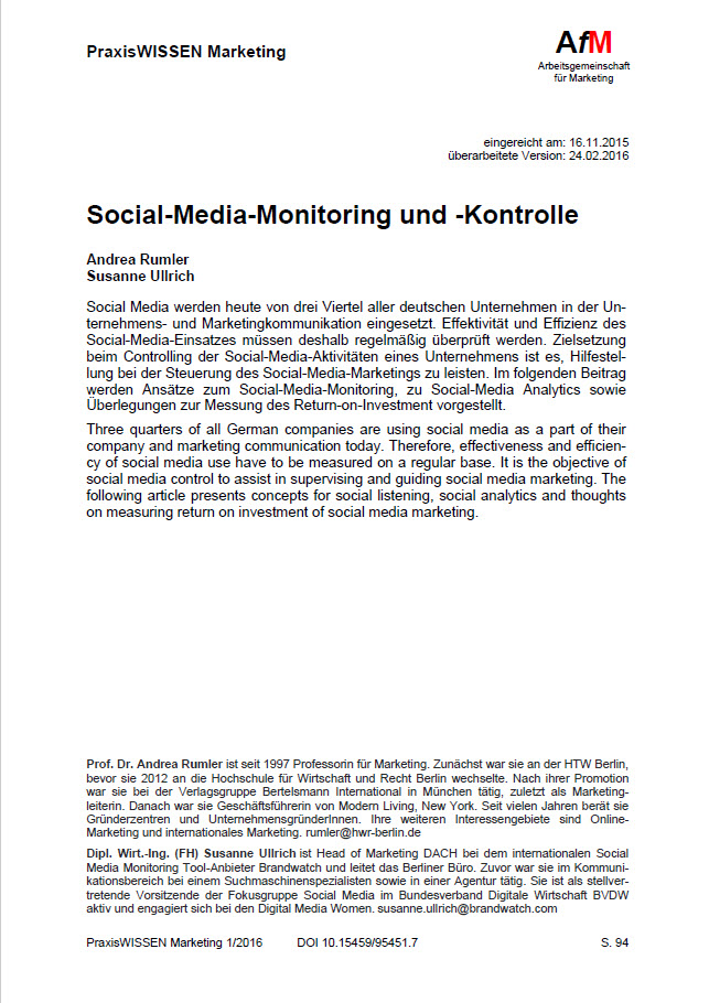 Social-Media-Monitoring und -Kontrolle