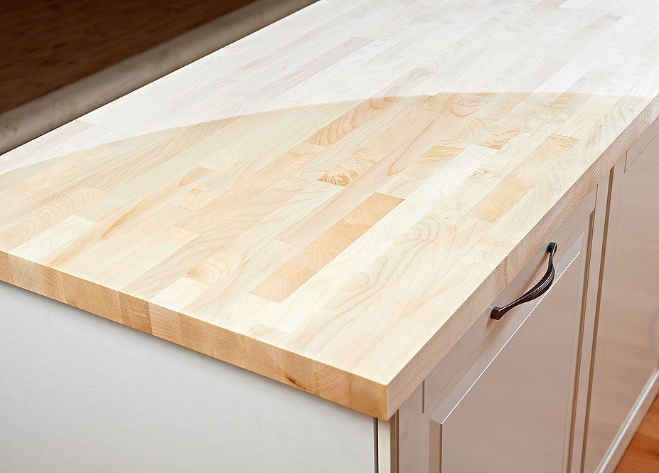 Arbeitsplatte  Küchenarbeitsplatte Massivholz Ahorn Kgz