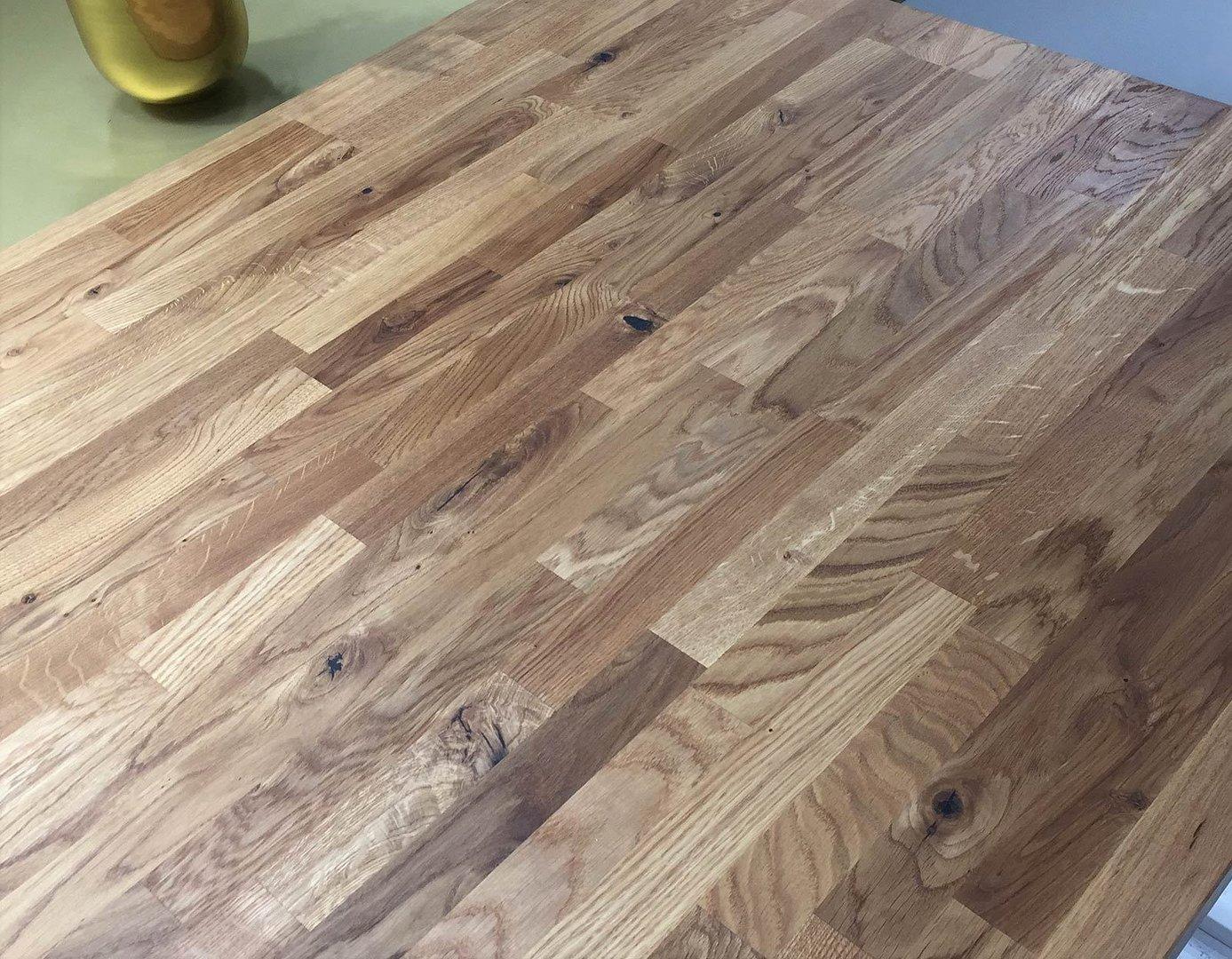 Arbeitsplatte  Küchenarbeitsplatte Massivholz Wildeiche