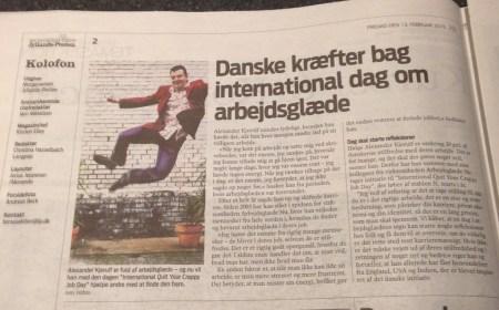 Danske kræfter bag international dag om arbejdsglæde - Jyllands-Posten