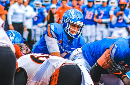 Photo of Brett Rypien on the Boise State football field