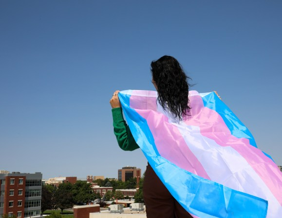 Trans flag, boise state