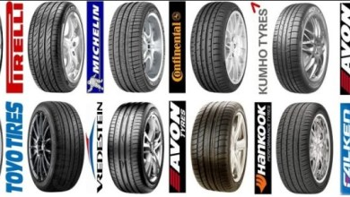 different types of tyres