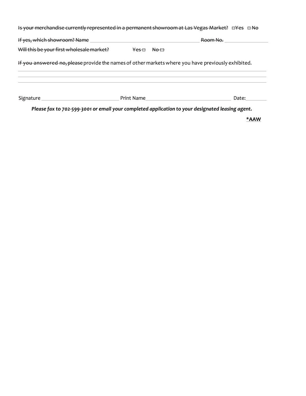 Las Vegas Market Application
