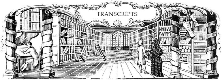 Image of an 18th century library: a visual cue for this section for archival records and sundry projects.
