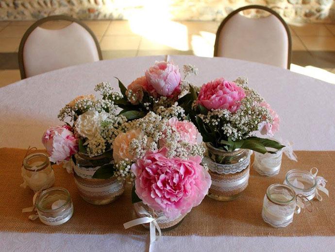 fleurs champetre chic