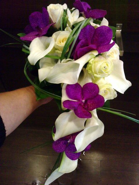 bouquet de mariée en goutte