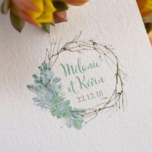 Logo mariage succulentes