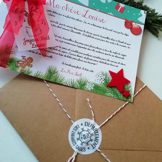 La lettre réponse du Père Noël